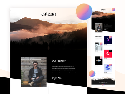 Catena Website Design business trade finance ux ui webdesign website web invest investor investments investing