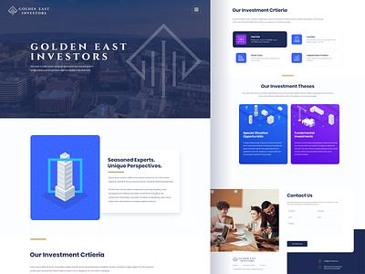 Golden East Investors Website Design ux ui websitedesign website webdesign illustration landing page property search property realty investitors invest realestate