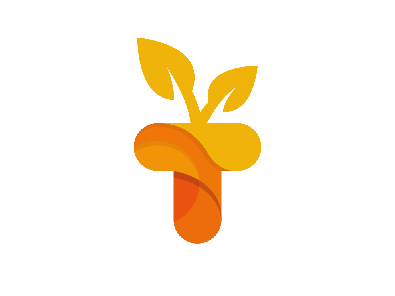 T nature letter Logo creative agency brand letter a nature typography c4d letter creative design logo