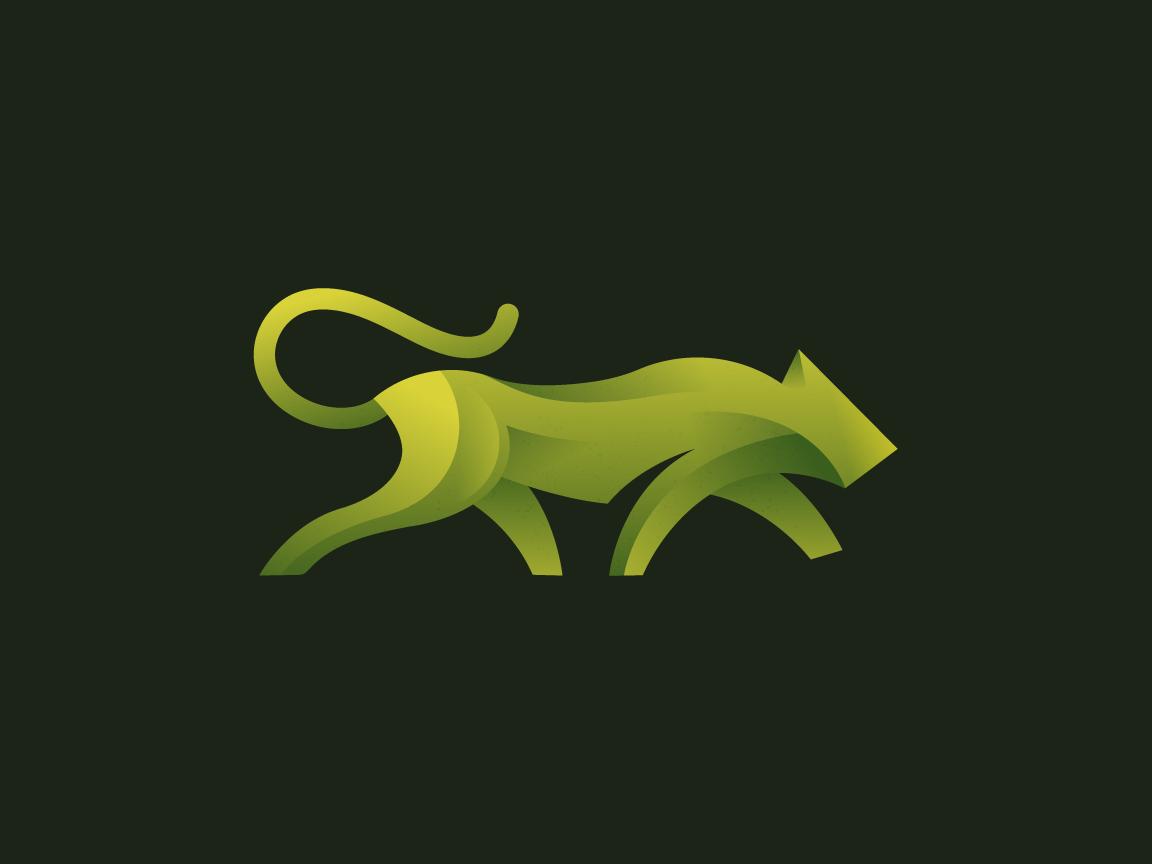 Green Tiger modern green tiger illustration graphic creative brand logo