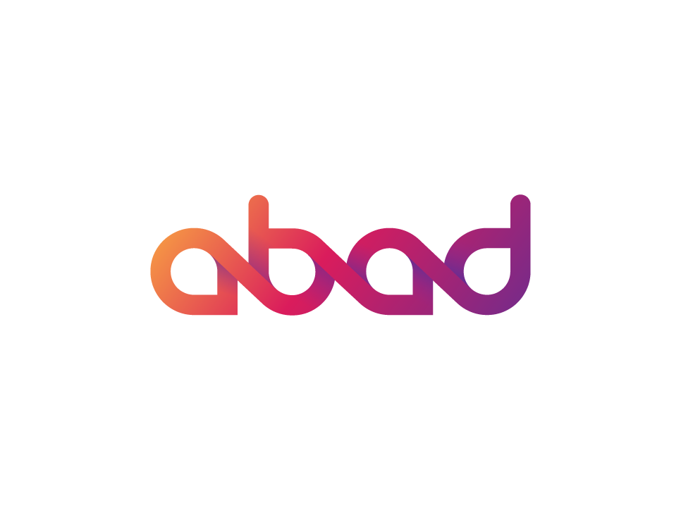 Abad logo typography font typography designer creative agency creative brand logo