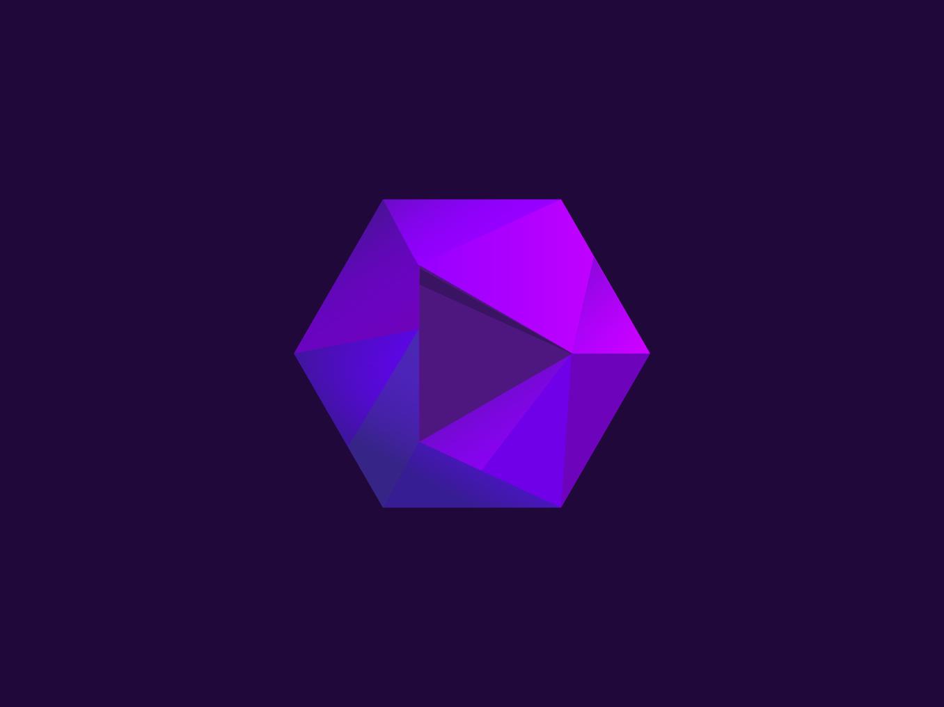 Play Button Logo brand graphic design logodesign hexagon play button play store logo creative