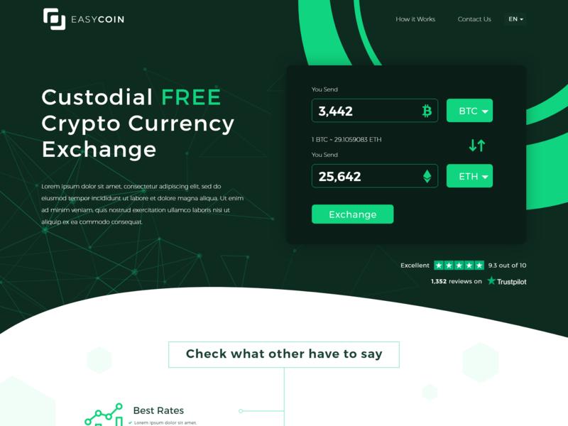 Easy Coin Web Design exchange bitcoin ui illustration design graphic creative agency web website