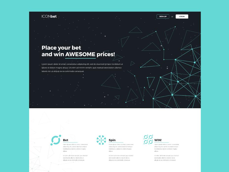 Iocn bet Web Design blockchain technology crypto gambling bet webdesign web design website web