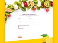 healthy food website contact form