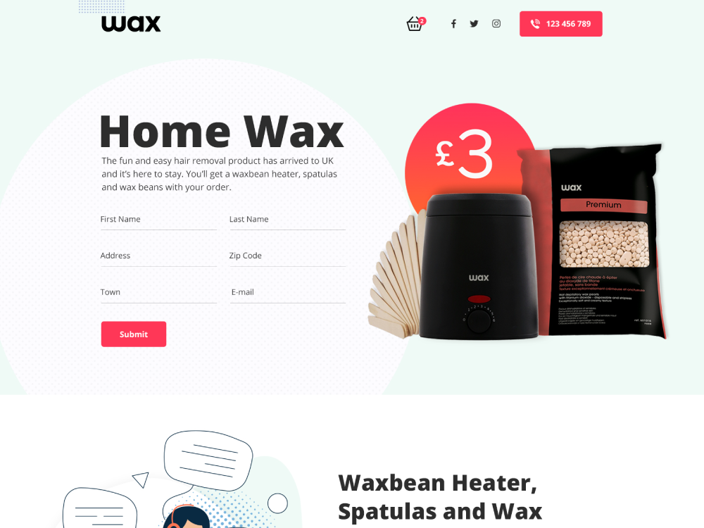 Wax Website Design ui creative agency brand designer agency webdesign creative webs website web