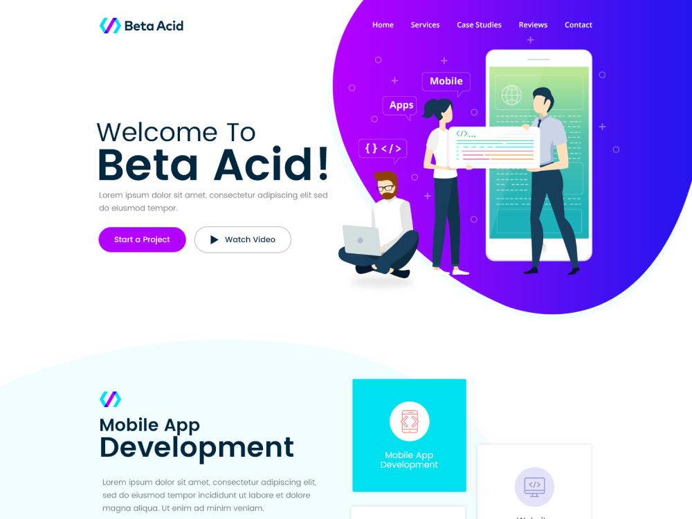 Beta Acid website webdesign flat web ui website branding creative agency creative