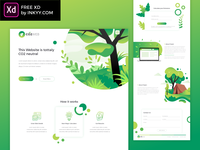Free XD nature green website design