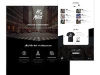 Streetwear Brand Hit The Million Website