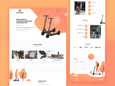 E-Scooter Rental Website Design
