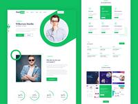 Free XD Template Green Portfolio