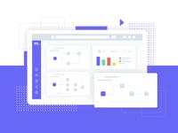 Web App Dashboard Illustration