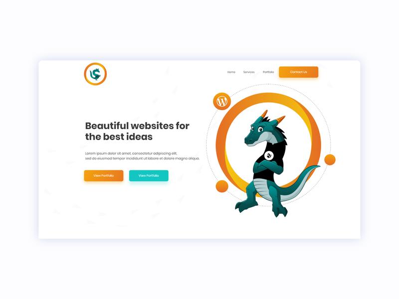 IT Services Website With Custom Dragon Mascot ui web creative dailywebdesign webdesign website development support itmarketing software itsupport customwebsite mascot dragon it it services itcompany itservice