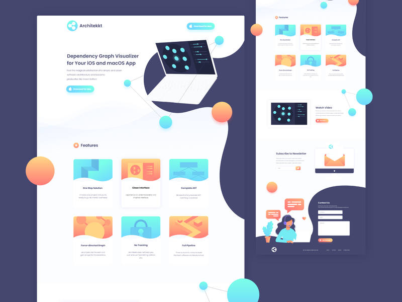 Modern Website Design for a SaaS Company web creative adobexd illustration uxdesign dailyui webdesign website itarchitecture php webarchitecture softwarearchitecture flatcolors software graph graphic graphicvisualization