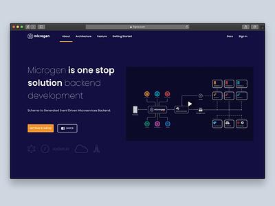 Microgen - One Stop Solution Backend Dev uxui backend landing page design landing landingpage web design webdesign figmadesign figma uxdesign ux design ui  ux ux uiux uidesign ui design ui