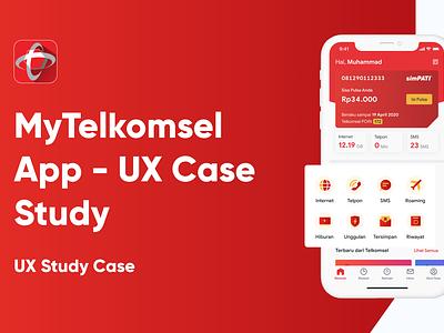 UX Case Study—MyTelkomsel App research wireframe mobile app appmobile figmadesign case study mobile casestudy figma ux uiux ui