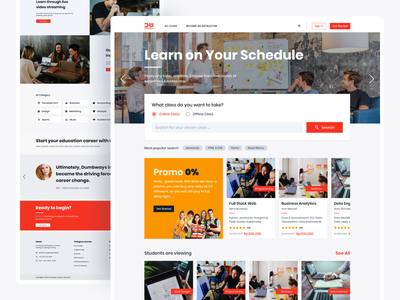 Online Course   One by One Concept onlineclasses onlineclass onlinecourse landing design landing figmadesign figma webdesign design uidesign ux uiux ui