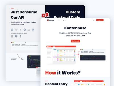Kontenbase   Headless Content Management codekul app table codeless code landing design landing figmadesign figma webdesign uidesign design ux uiux ui