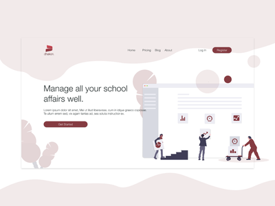 Landing Page Dhakon School ui website landingpage dekstop school web ilustration adobexd