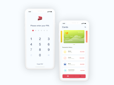 Finance App accountancy card login wallet finance ilustration mobile logo icon flat design ui app adobexd