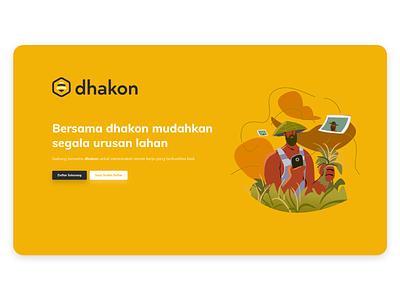 Landing Page Dhakon ilustration ux brand adobexd design illustration webdesign ui landing design landing page landing