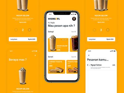 WISNGOP¿ - Mobile App uxui ux uidesign ui  ux uiux ui coffeeshop coffee cup coffee mobile app design mobile design mobile app mobile ui mobile