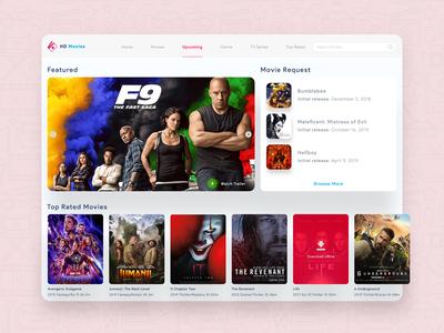 Movie App Landing Page