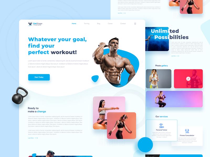 GetShape Fitness Landing Page