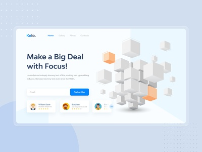 Kelo Corporate Landing Page UI Design new ui design 2020 kelo creative ui design] clean ux minimalist ui minimal ui design 2020 uiux ui corporate landing page