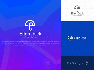 EllenDock Minimalist Logo Design for Umbrella Brand