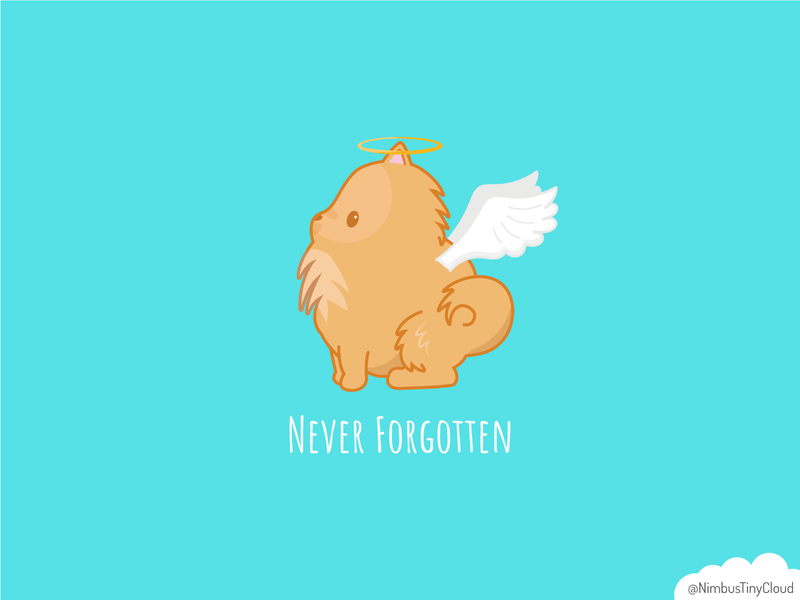 Pomeranian Angel dogs pomeranian dog chibi cute character design vector illustration kawaii
