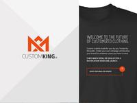 Custom King landing page