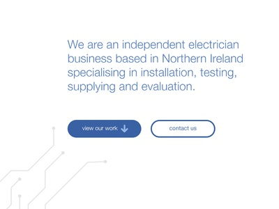 One-page electrician site