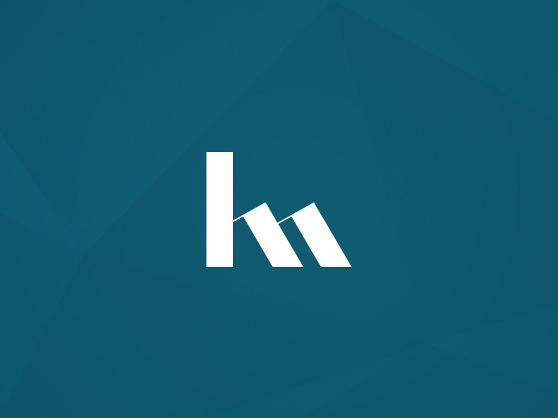 Km Monogram By Grace Coote On Dribbble