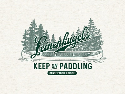 Leinenkugel's Canoe Paddle Kolsch T-shirt Design pinetrees pinetree pine leinenkugels leinies kolsch paddle canoeing canoe northern design tshirt merch illustration wisconsin apparel design beer brewery