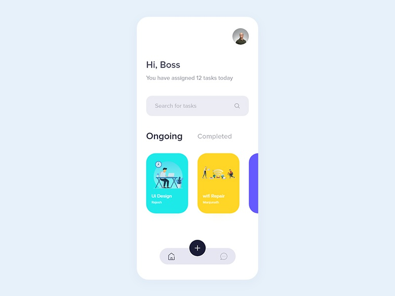 Tasks by Rajesh Lucky on Dribbble