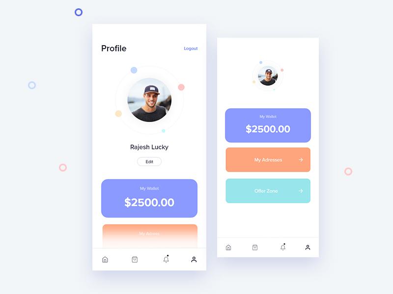Profile portfolio daily ui colors app bro4u page profile design ux ui