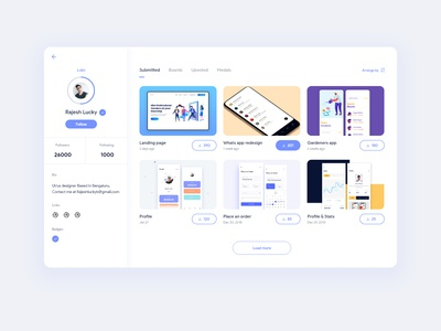 Uplabs Profile Redesign