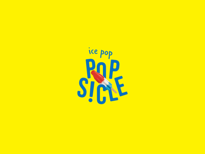 Popsicle Redesign young fun kid candy ice cream ice pop colorful modern food redesign logo design branding brand