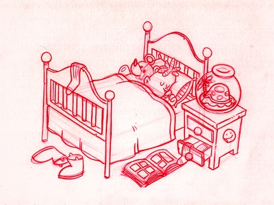 Coloring Book 3 illustration kids sleeping bedtime concept sketches boots teddy bear