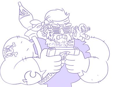 BEEFYMCPOUND cartoon character illustration