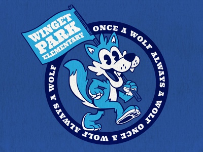 Winget Wolf mascot cartoon character illustration mascot