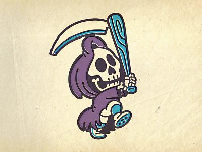 lil reapers illustration baseball mascot character