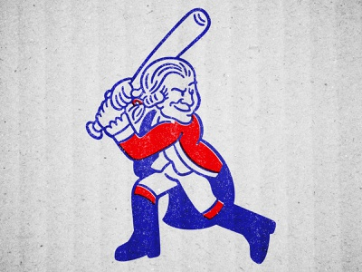 George Washingtons design character mascot baseball