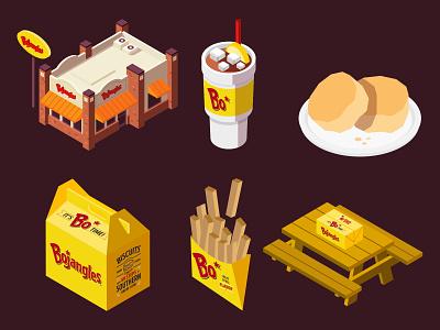 bojangles icons food icon illustration