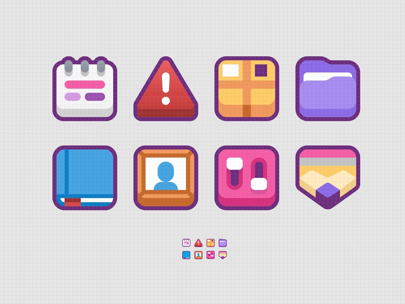 chonkyboiz icons ui illustration