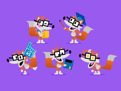 Fivey poses mascot character illustration