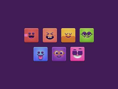 face icons icon illustration