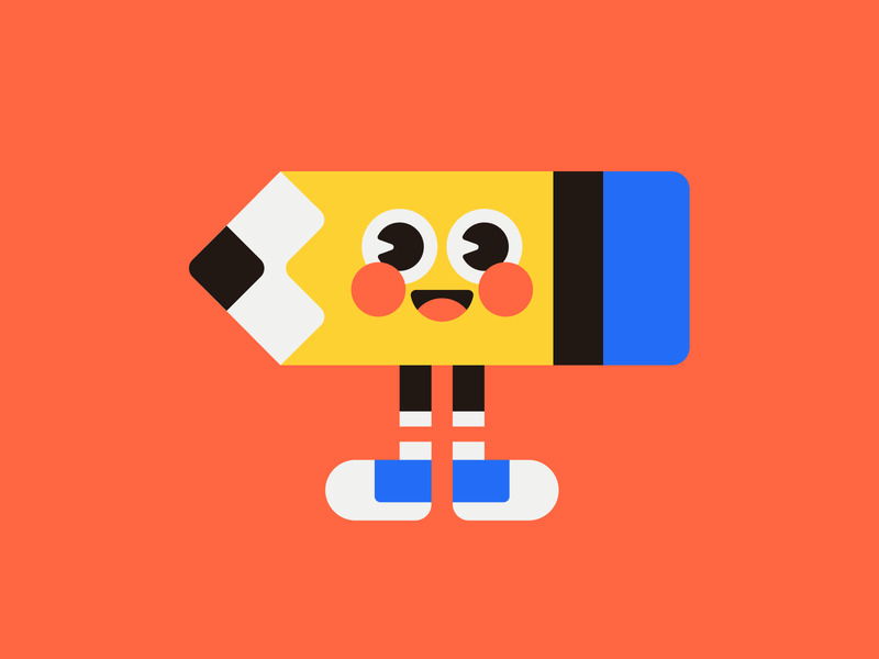 Mister Pencil mascot character illustration