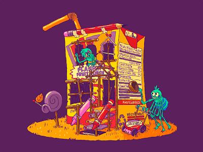 Juice diabetes low income housing purple hi-c lawnmower kidlit spider cartoon